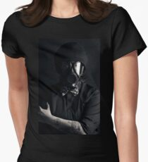 Gasmask Womens Fitted T-Shirt