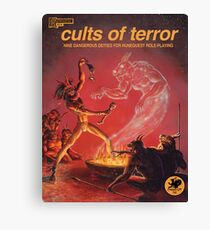 Cults of Terror - front cover Canvas Print