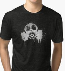 Gas mask  Tri-blend T-Shirt