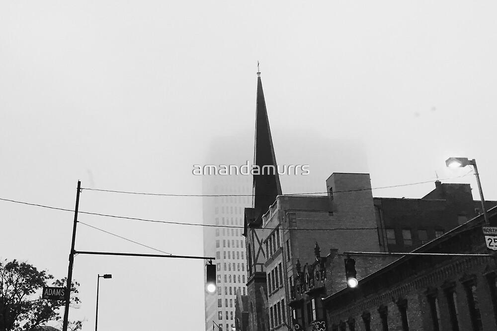 Black & White Church by amandamurrs