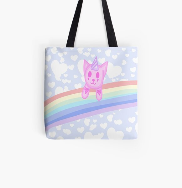Rainbow Caticorn All Over Print Tote Bag