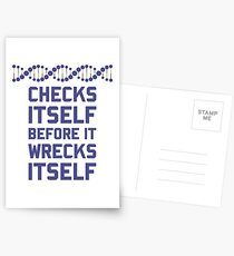 Check Yourself Before You Wreck Your DNA Genetics Postcards