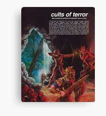 Cults of Terror - back cover Canvas Print