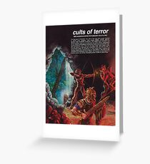 Cults of Terror - back cover Greeting Card