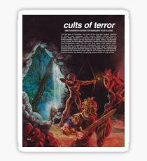 Cults of Terror - back cover Sticker