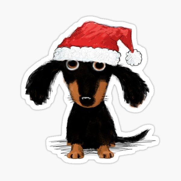 Doxie Clause Santa Dachshund | Funny Wiener Dog Christmas Sticker