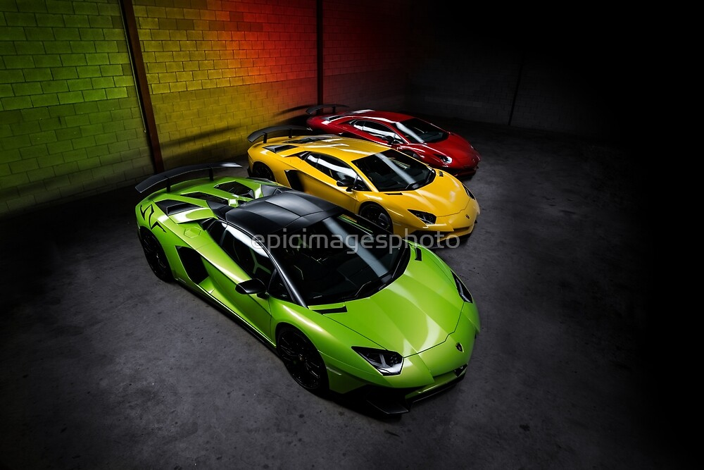 Traffic Lights - Supercars Green Red Yellow by epicimagesphoto