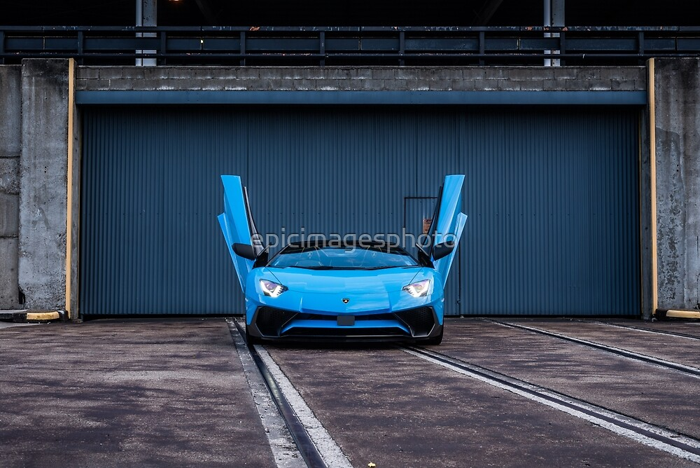 Blue Supercar v12 by epicimagesphoto