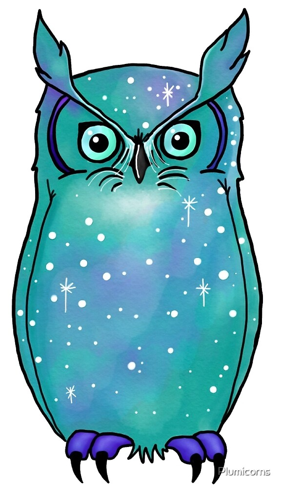 Galactic Great Horned Owl by Plumicorns