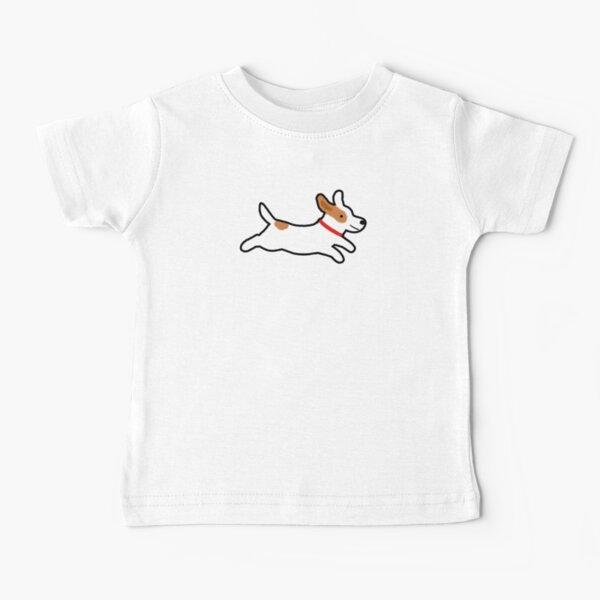 Cute Jack Russell Terrier Running Dog Baby T-Shirt