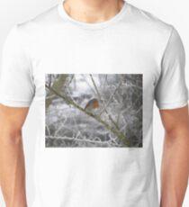 Robin and Winter Scene Unisex T-Shirt