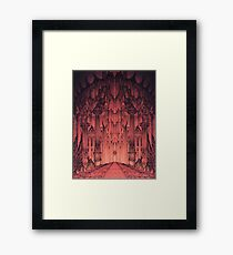 The Gates of Barad Dûr Framed Print