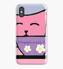 Cat Drinking Tea the Purrfect Cuppa iPhone Case