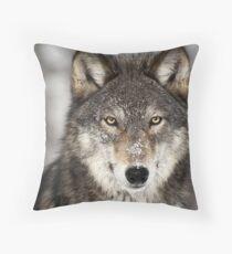Animal Print - wolf by Aariv Throw Pillow