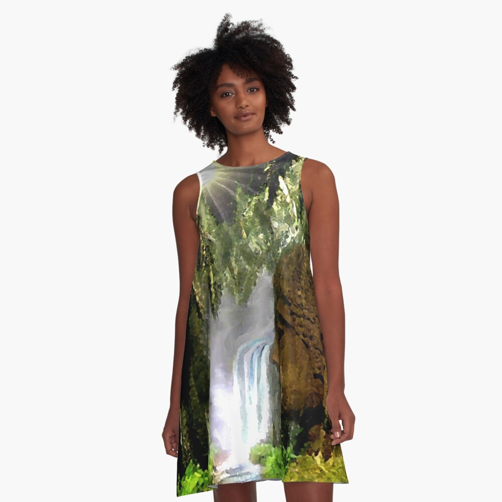 Peace and Light A-Line Dress Front