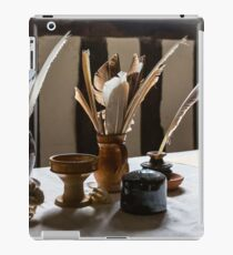 Feather Quill and ink bottles iPad Case/Skin