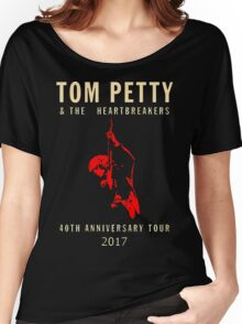 40th anniversary tour tom petty womens t shirts tops redbubble. Black Bedroom Furniture Sets. Home Design Ideas