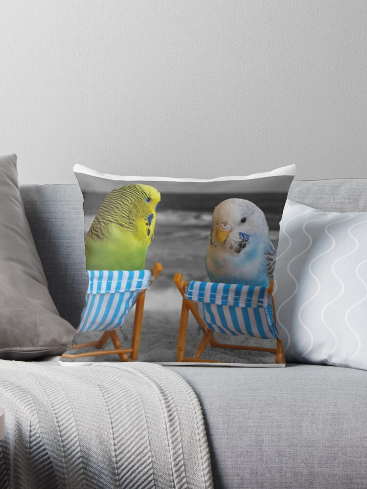 Budgies - Love Birds chiling by Aariv by aariv