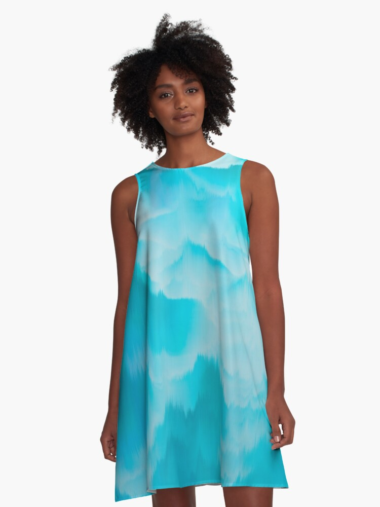 Clouds and mountains. Abstract. A-Line Dress Front