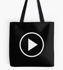 Fun play button icon Tote Bag