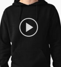Fun play button icon Pullover Hoodie