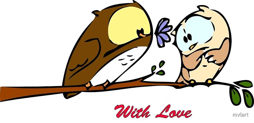 Owl in love by mvlart