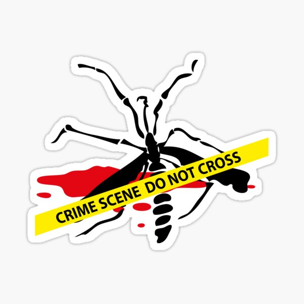 Crime scene mosquito Sticker