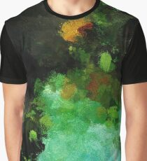 Abstract Landscape Painting Graphic T-Shirt