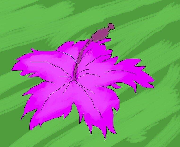 Estampa de hibisco colorido by AnaArielTurte