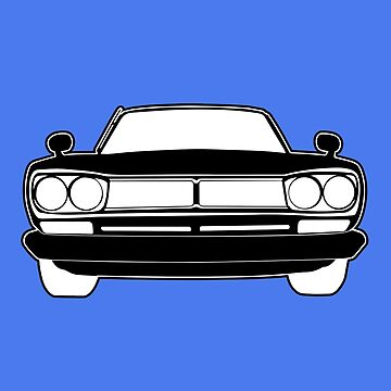 1970 Datsun GTR Skyline JDM Design | Stickers & Apparel - Black by TheStickerLab
