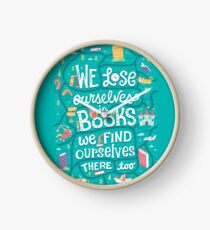 Lose ourselves in books Clock