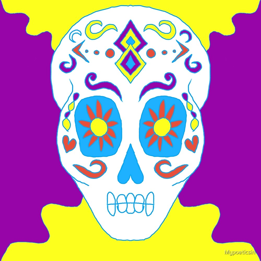 Simple Sugar Skull  by Mypoeticsin