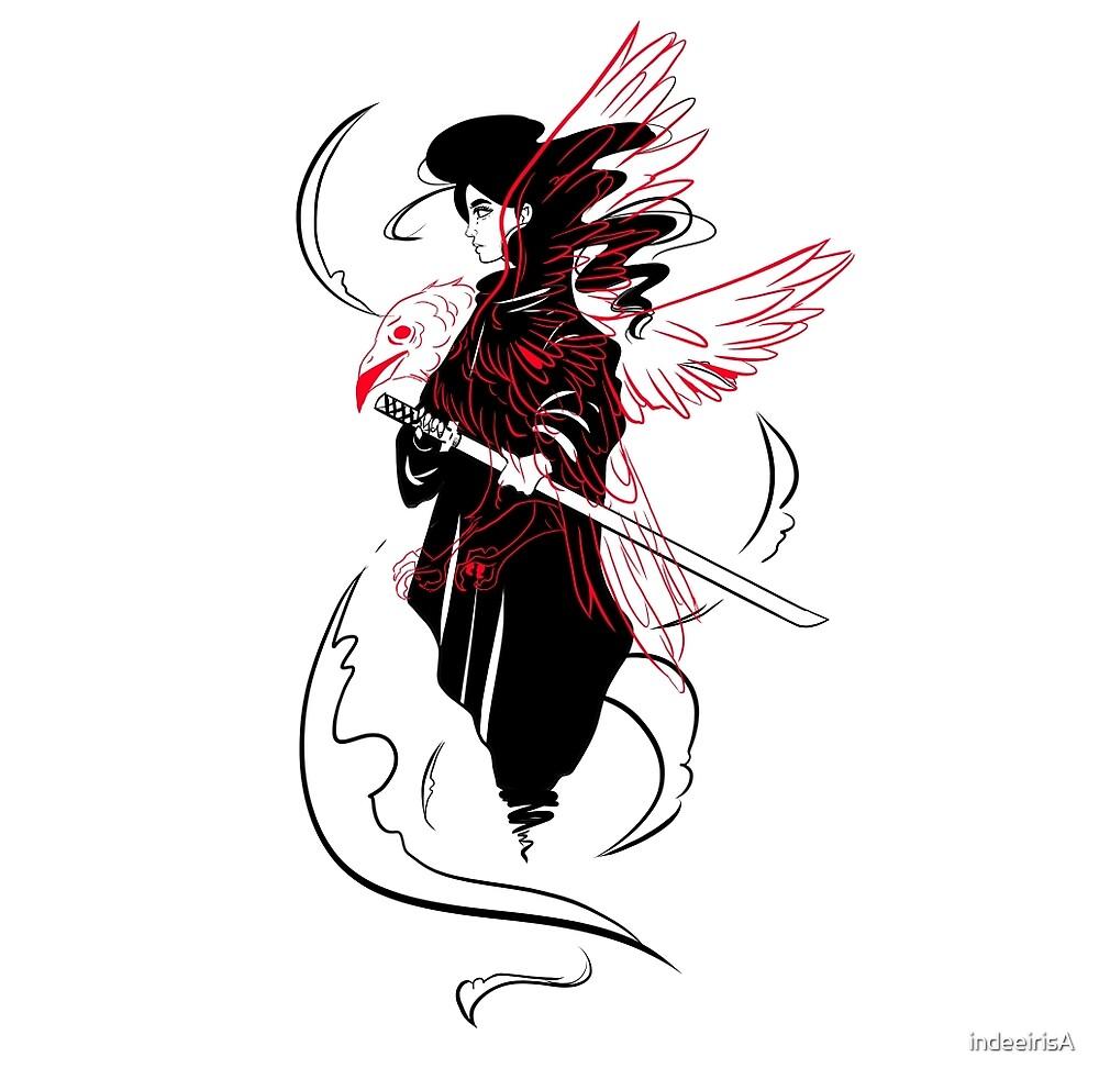 The Crow Samurai  by indeeirisA