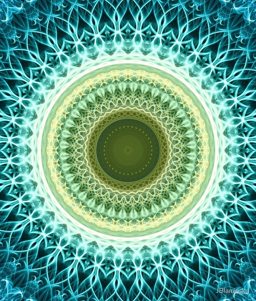 Mandala in light yellow and green by JBlaminsky