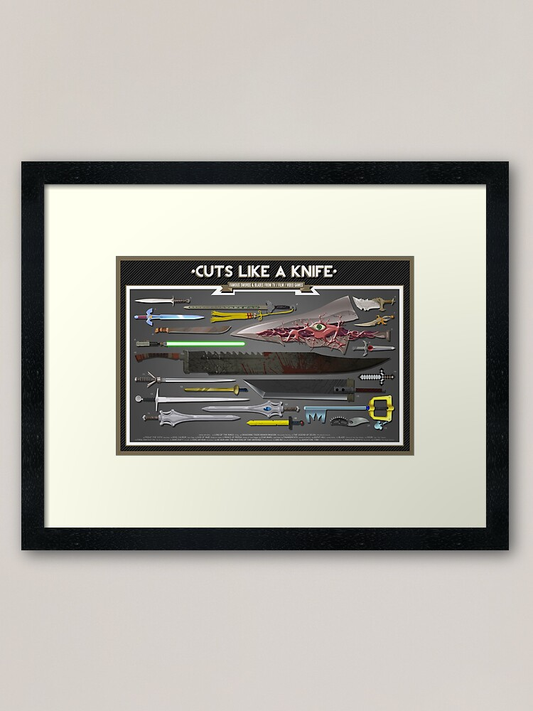 Alternate view of Cuts Like a Knife Framed Art Print