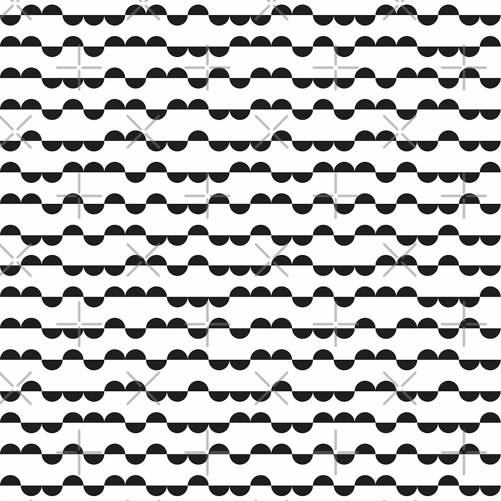 Half circles pattern in black and white by elfina