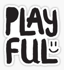 Play Ful - Playful - Cute Kids Boys Girls Design - Happy Smiley Face Sticker