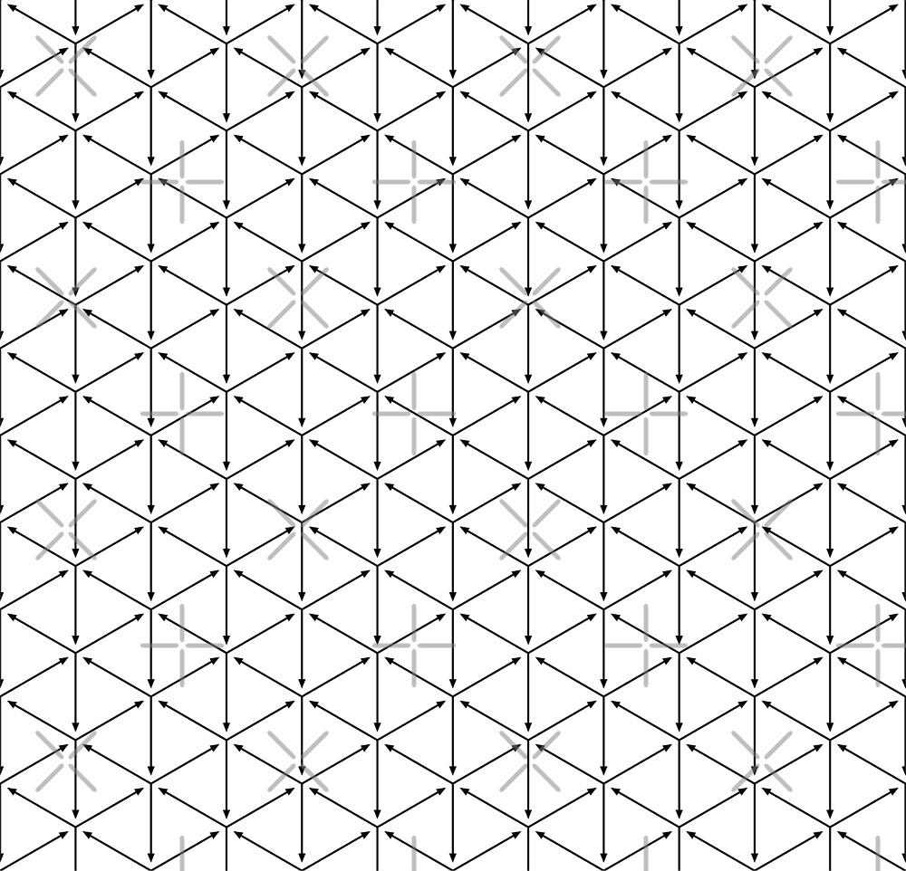 Black isometric arrows pattern by elfina