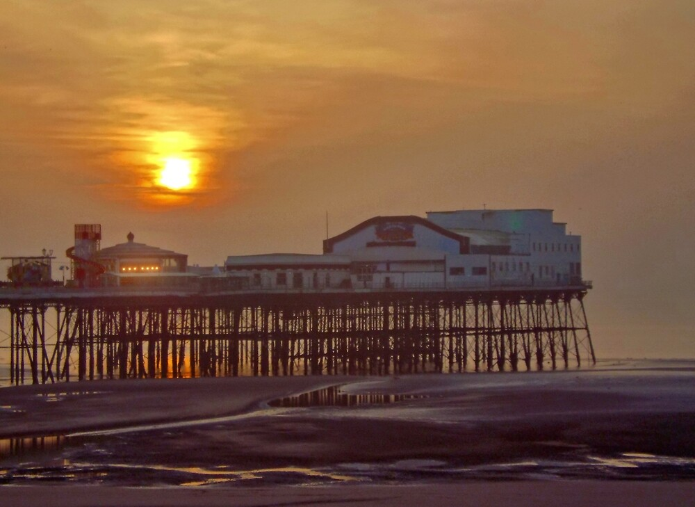Central Pier Sunset by BrainwaveArt