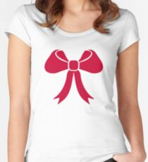 Red bow Women's Fitted Scoop T-Shirt