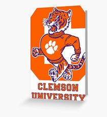 clemson tigers best logo Greeting Card