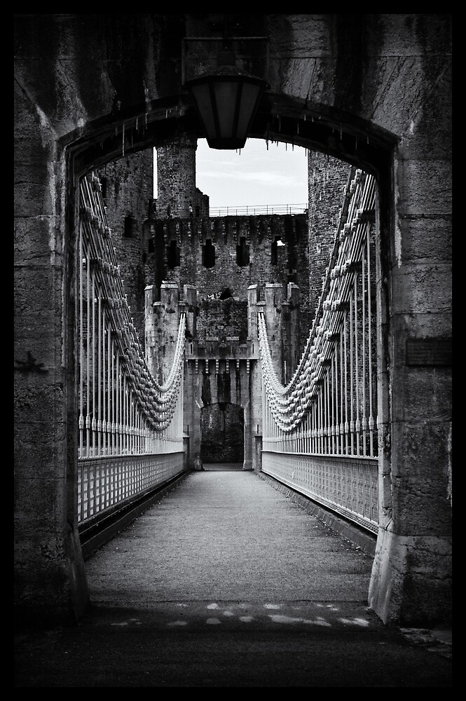 Conwy Suspension Bridge and Castle, Wales by erobphotography