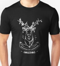 Dreaming of a whitetail Christmas - Funny Hunting Deer  T-Shirt