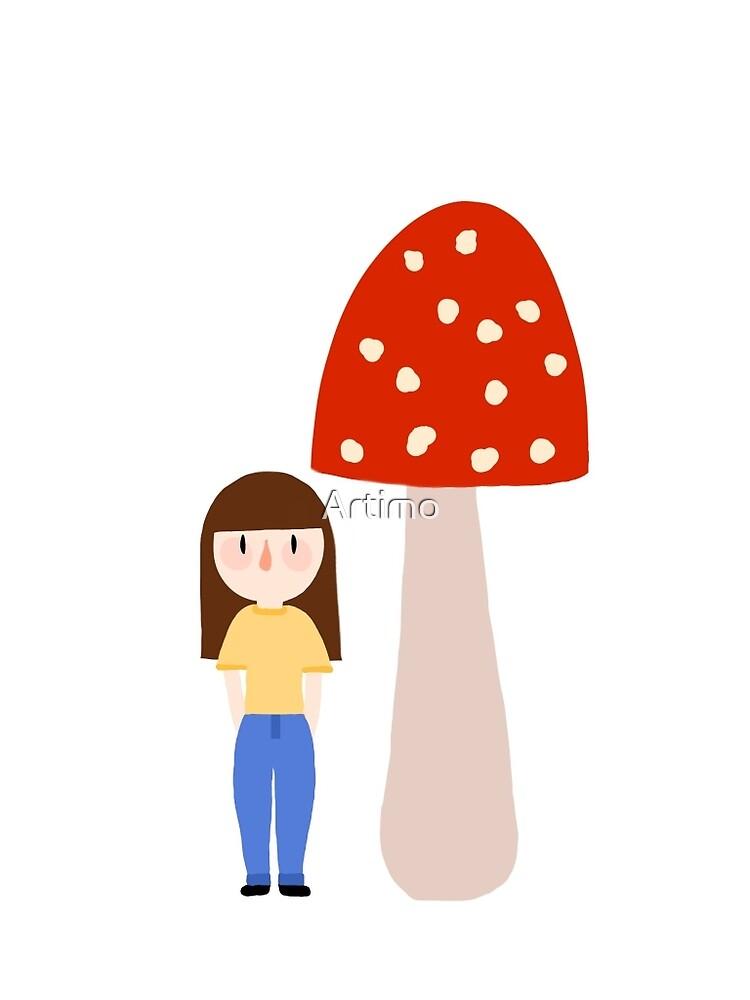 Jess with mushroom by Artimo