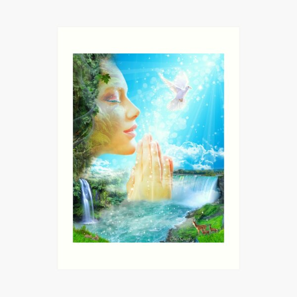 The Gaia - the spirit of the living Earth Art Print