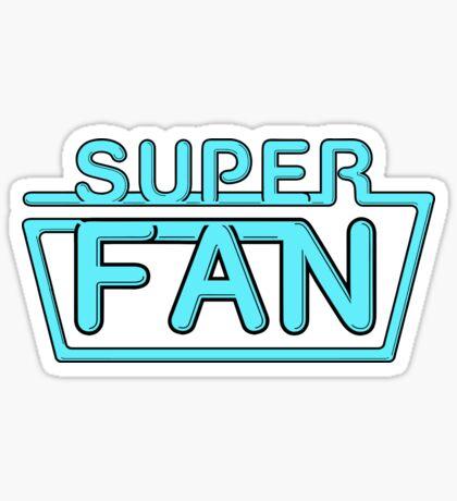 Super Fan - Neon logo (blue) Sticker