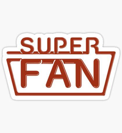 Super Fan - Neon logo (red) Sticker