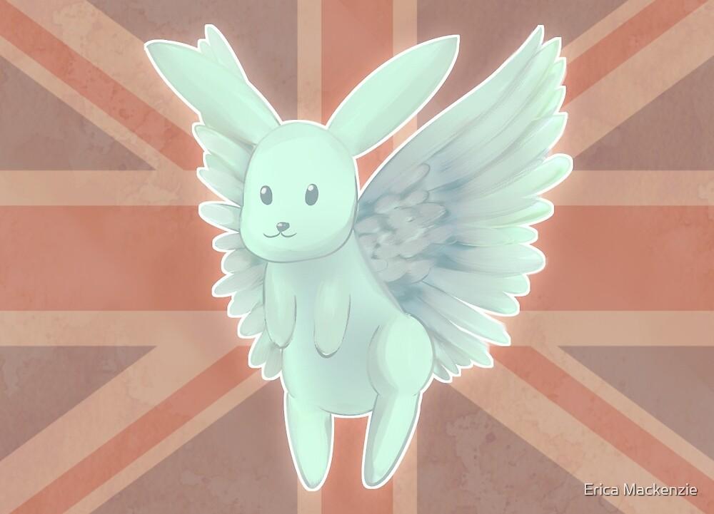 Flying Mint Bunny by Erica Mackenzie