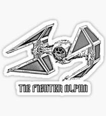 Tie Fighter Alpha Sticker