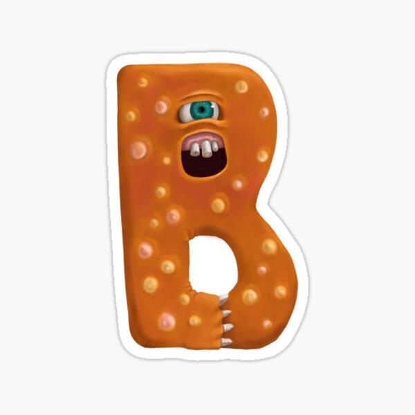 Monster Letter B Sticker